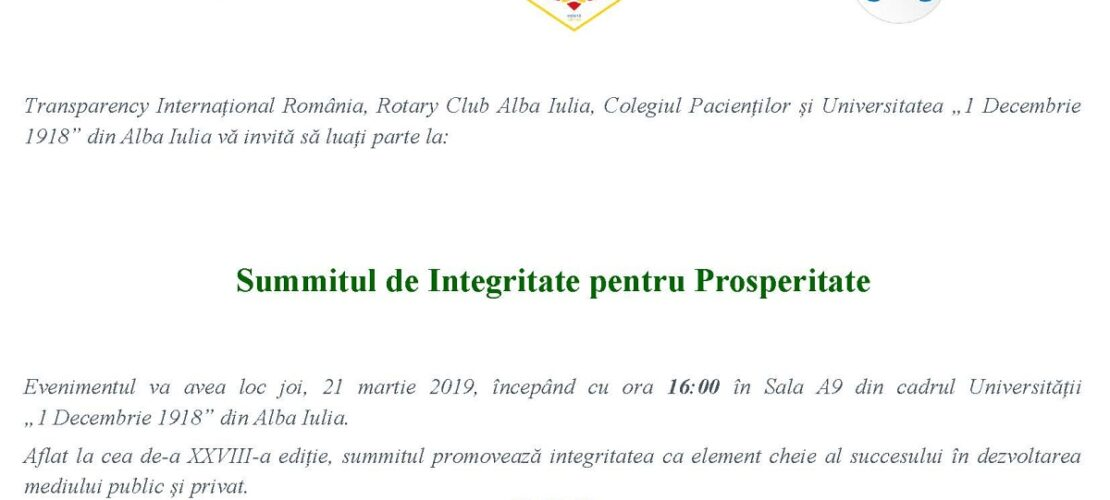 Invitatie Alba Iulia mar 2019