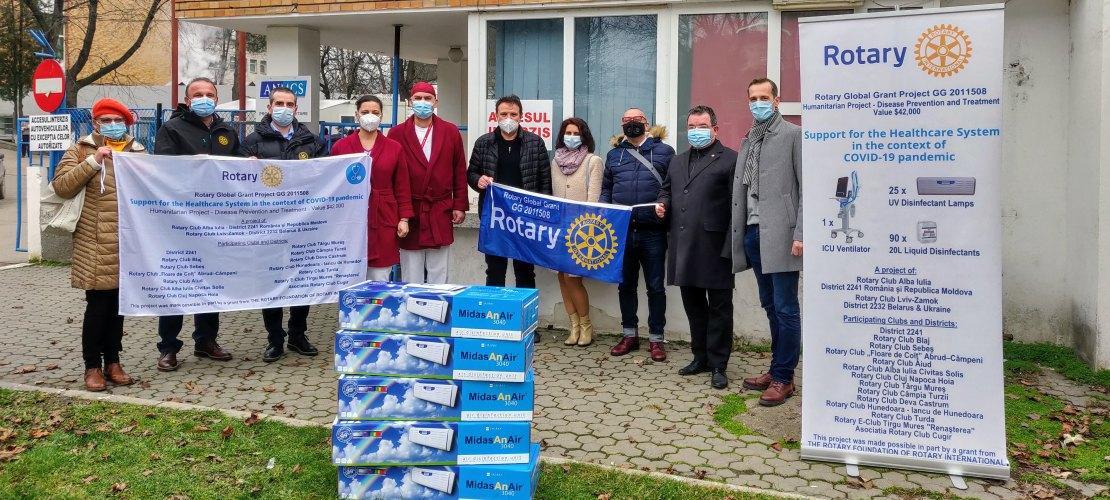 Donatie ventilator si lampi catre sectia ATI - Spitalul Judetean Alba